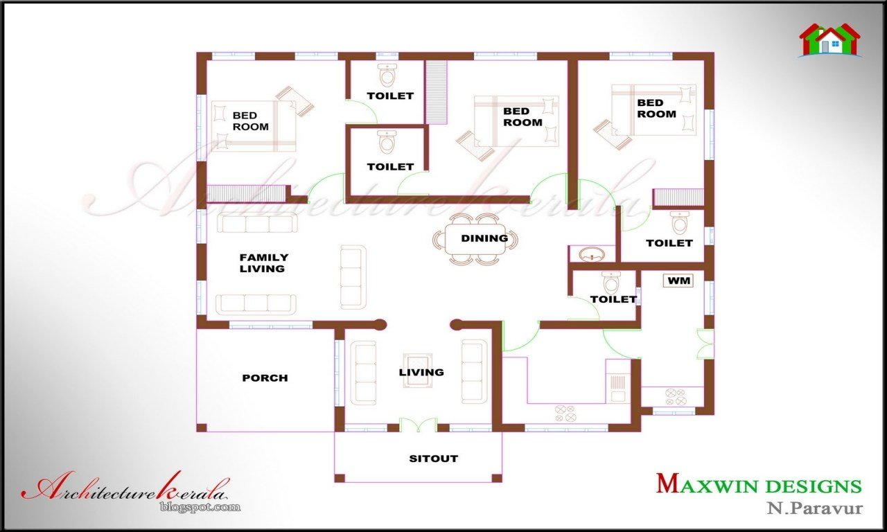 Best 4 Bedroom Ranch House Plans 4 Bedroom House Plans Kerala Style Single Floor House Plan With Pictures