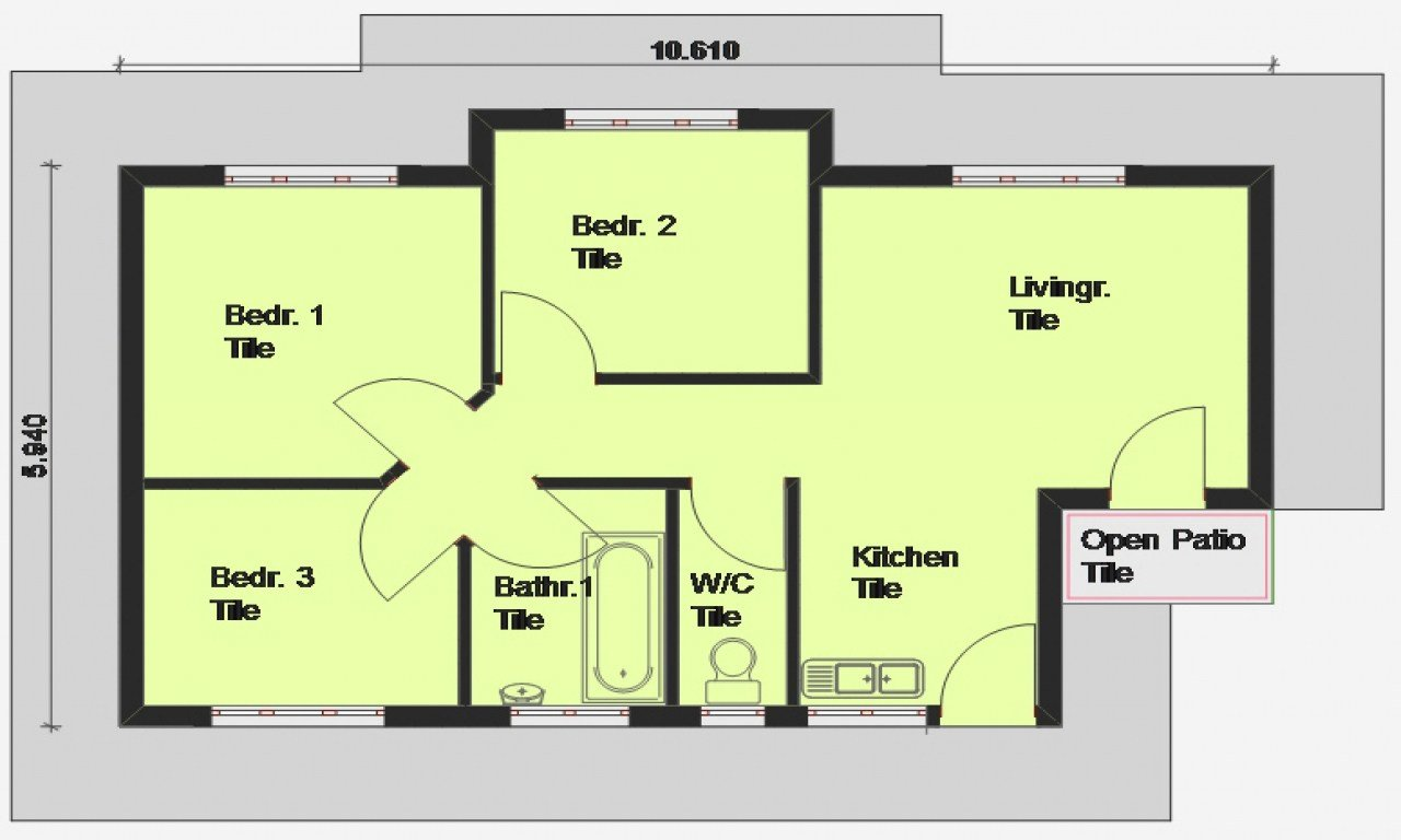 Best Luxury 3 Bedroom House Plans 3 Bedroom House Plan South With Pictures