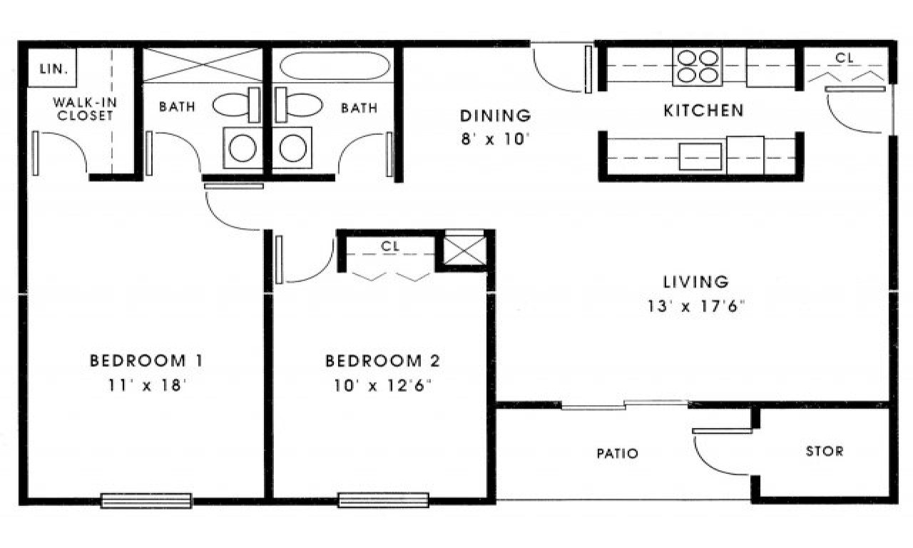 Best Small 2 Bedroom House Plans 1000 Sq Ft Small 2 Bedroom Floor Plans House Plans Under 1000 Sq Ft With Pictures