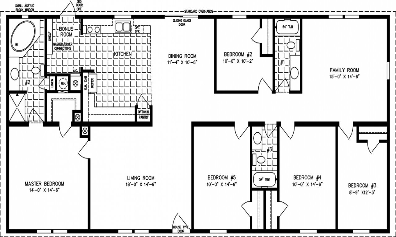 Best 5 Bedroom Mobile Home Floor Plans 6 Bedroom Double Wides With Pictures