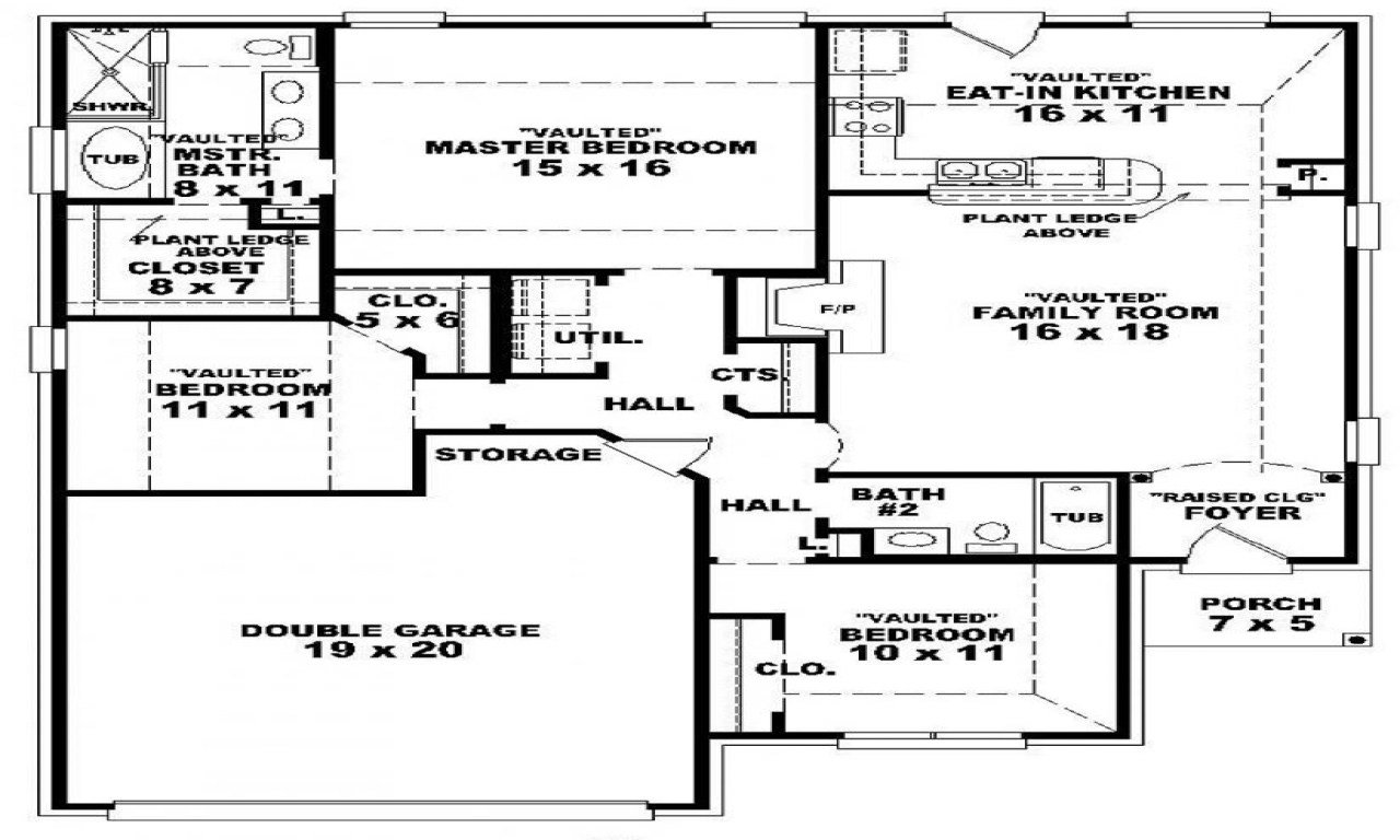 Best 3 Bedroom 2 Bath 1 Story House Plans 3 Bedroom 2 Bathroom With Pictures