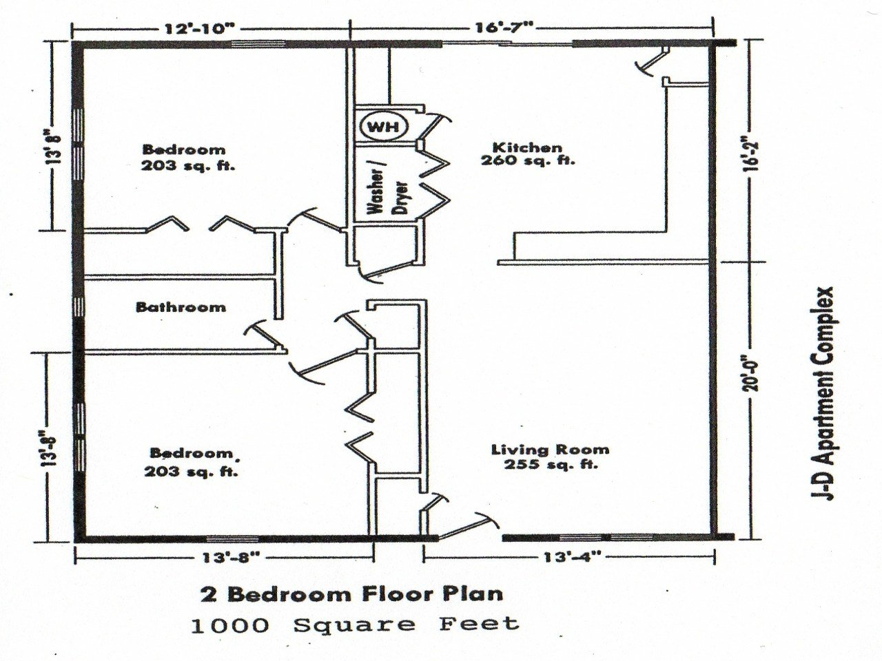 Best 2 Bedroom House Floor Plans 2 Bedroom House Simple Plan With Pictures