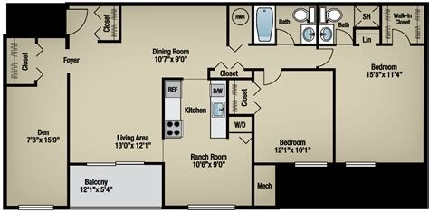 Best Two Bedroom Apartments With Dens In Gaithersburg Md Montgomery Club With Pictures