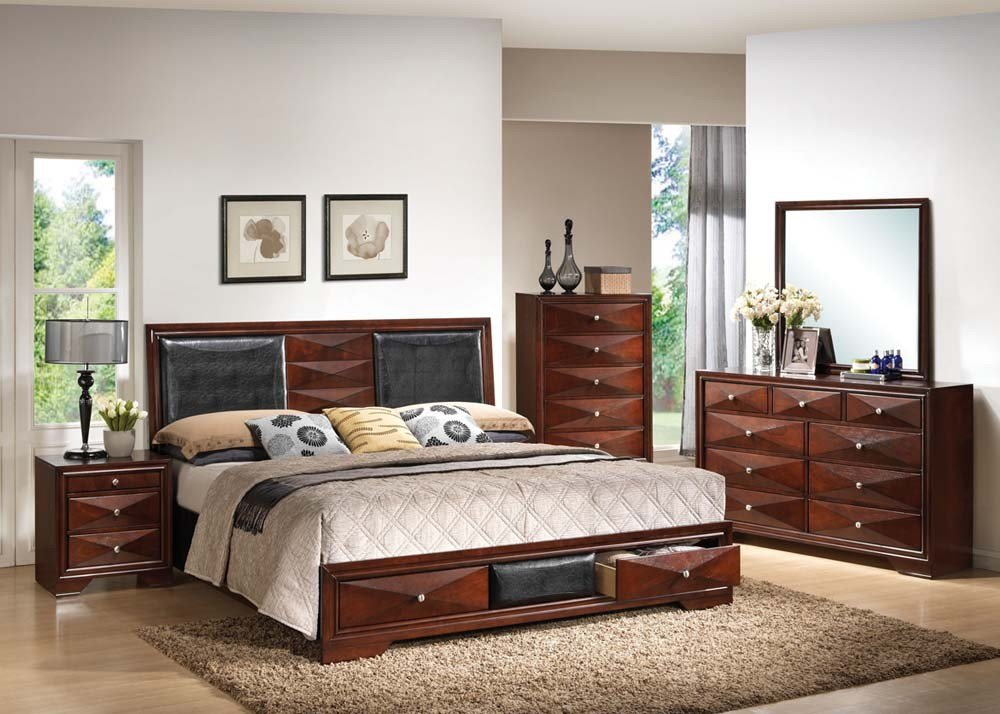 Best Acme Furniture Windsor 4Pc Storage Bedroom Set With Pictures