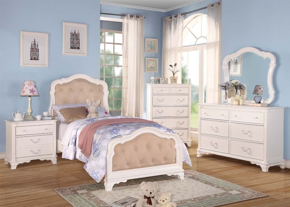 Best Acme Ira White Youth Bedroom Set With Pictures
