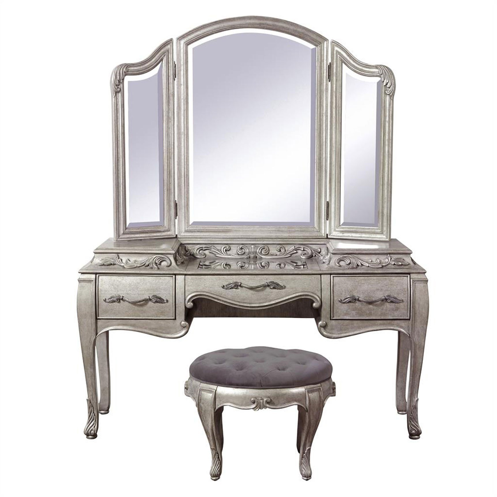 Best Pulaski Furniture Rhianna 3 Piece Vanity With Stool In With Pictures