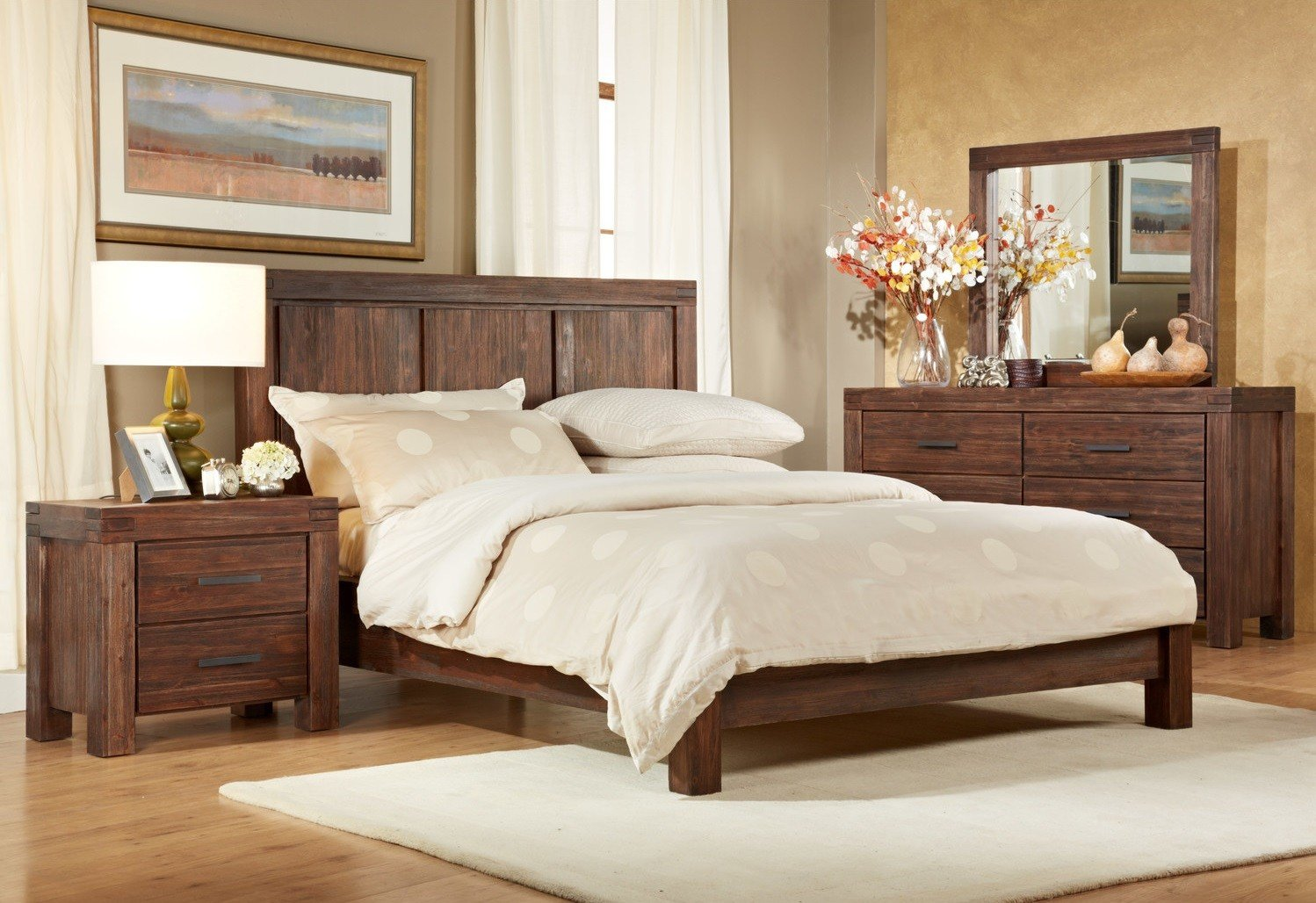 Best Modus 4 Piece Meadow Solid Wood Bedroom Set With Pictures