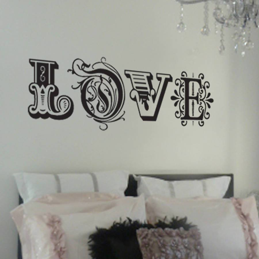 Best Love Wall Sticker By Nutmeg Notonthehighstreet Com With Pictures