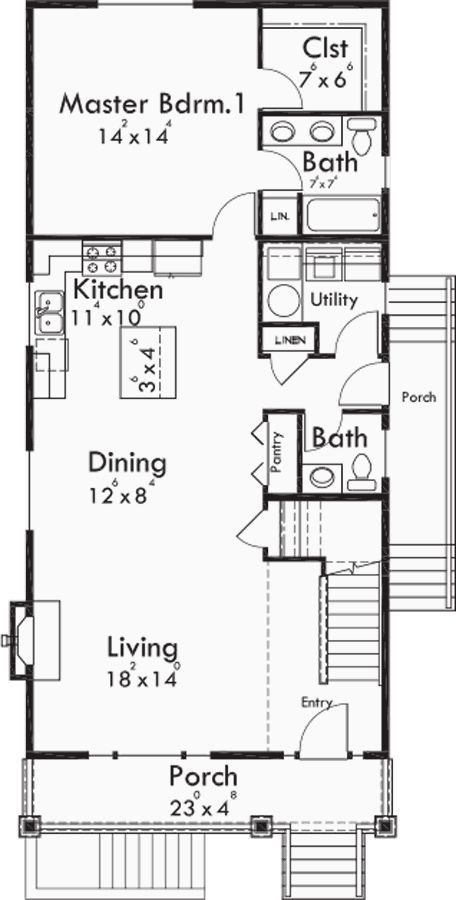 Best 55 2 Bedroom House Plans With Basement Small Ranch House Plans Smalltowndjscom Vendermicasa Org With Pictures