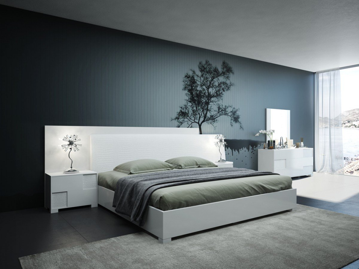 Best Modrest Monza Italian Modern White Bedroom Set Modern With Pictures