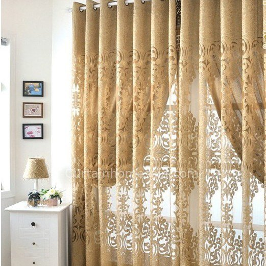 Best Dark Gold European Design Beautiful Bedroom Curtains With Pictures