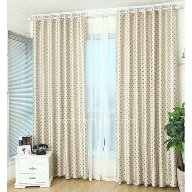 Best Simple Thick Polka Dot Insulated Bedroom Kids Curtains With Pictures
