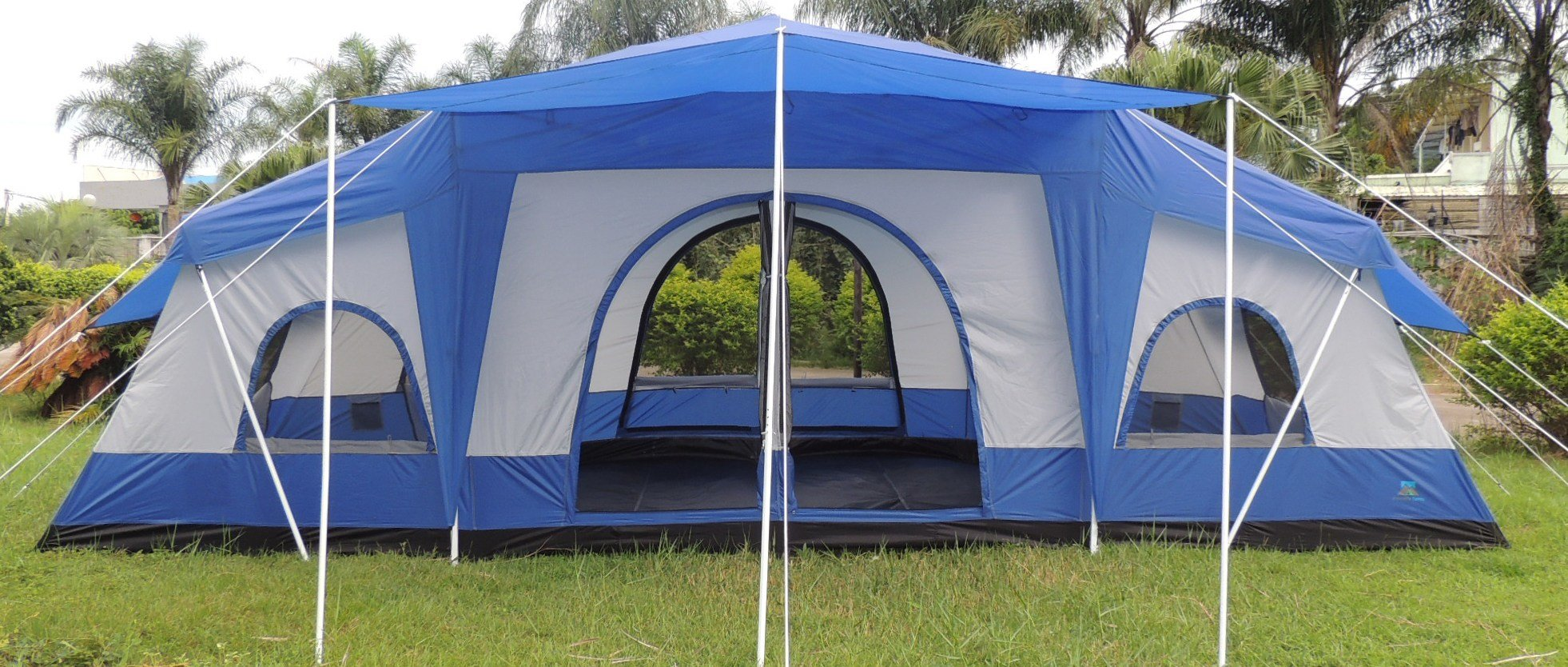 Best Deluxe 4 Room Cabin Tent 24 X10 Large Camping Tent With Pictures