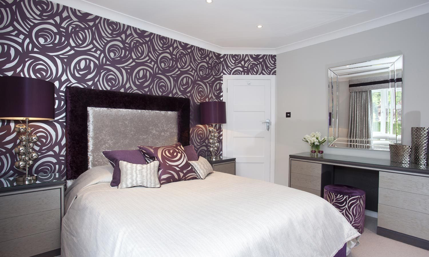 Best Silver And Purple Bedroom Gerard Lewis Designs With Pictures