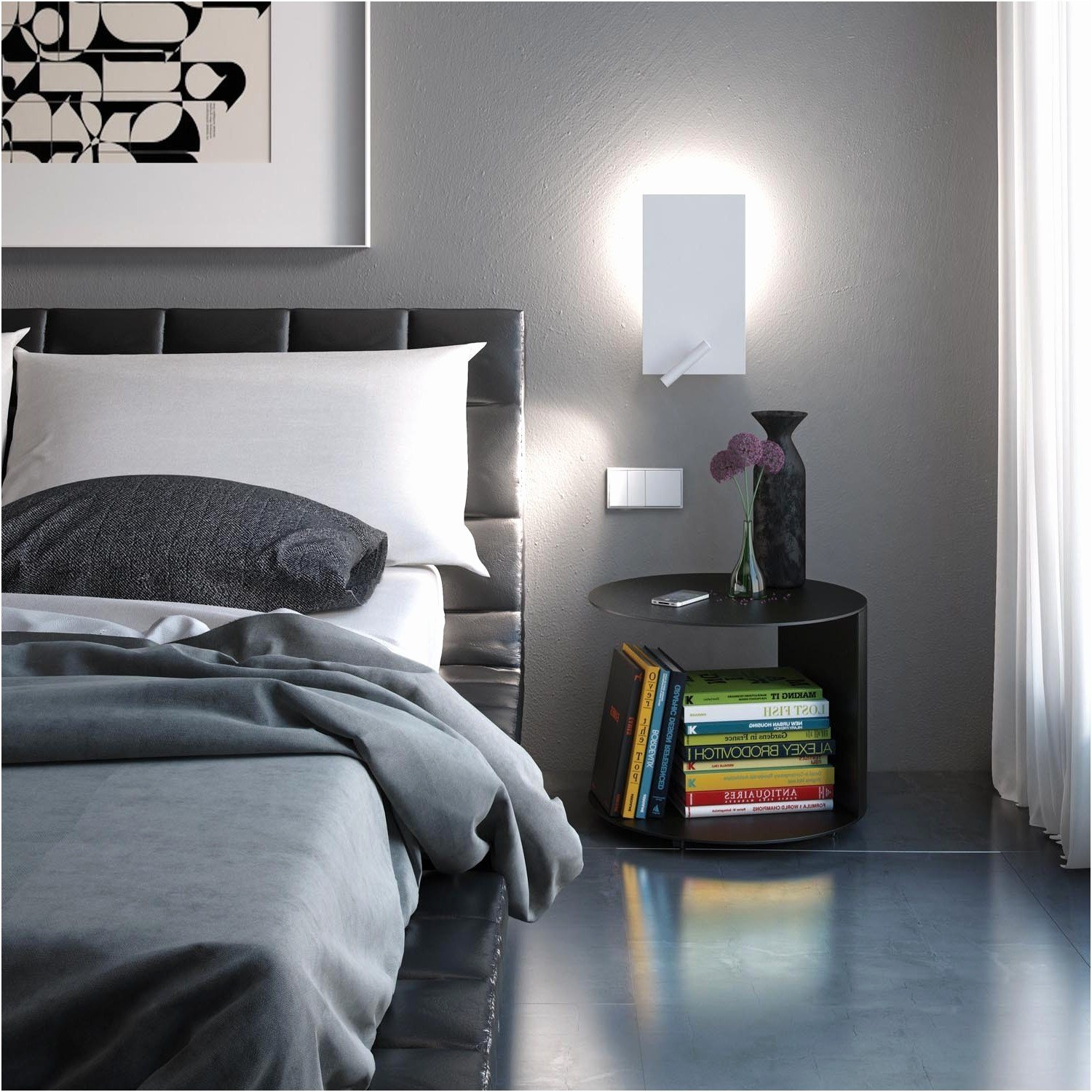 Best Swing Arm Wall Lamp Bedroom Bedside Reading Lights With Pictures