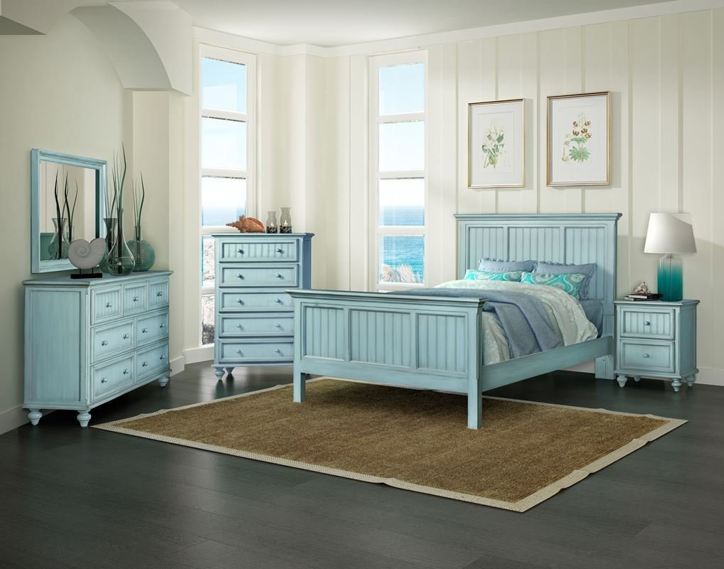 Best Monaco Casual Bedroom Collection Bleu Sea Winds With Pictures