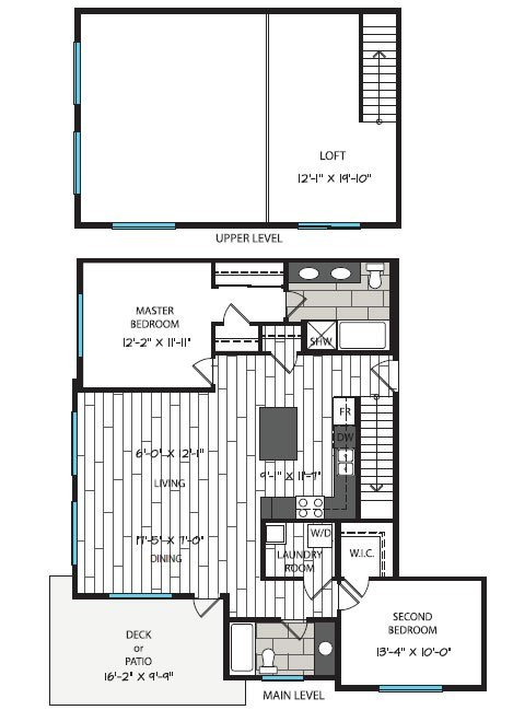 Best Corner Two Bedroom Loft – Plan G1 Loft – Waterstone With Pictures