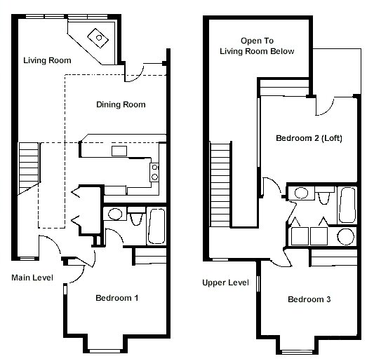 Best Floor Plan – Two Bedroom Loft Rci Id 1711 Whispering Woods Resortwhispering Woods Resort With Pictures