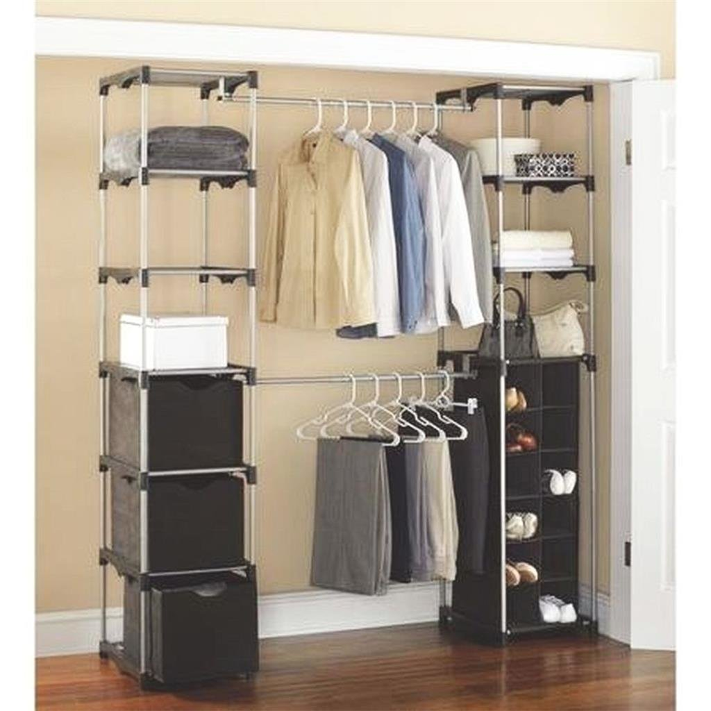 Best Closet Expandable Closet Organizer For Bedroom Storage With Pictures