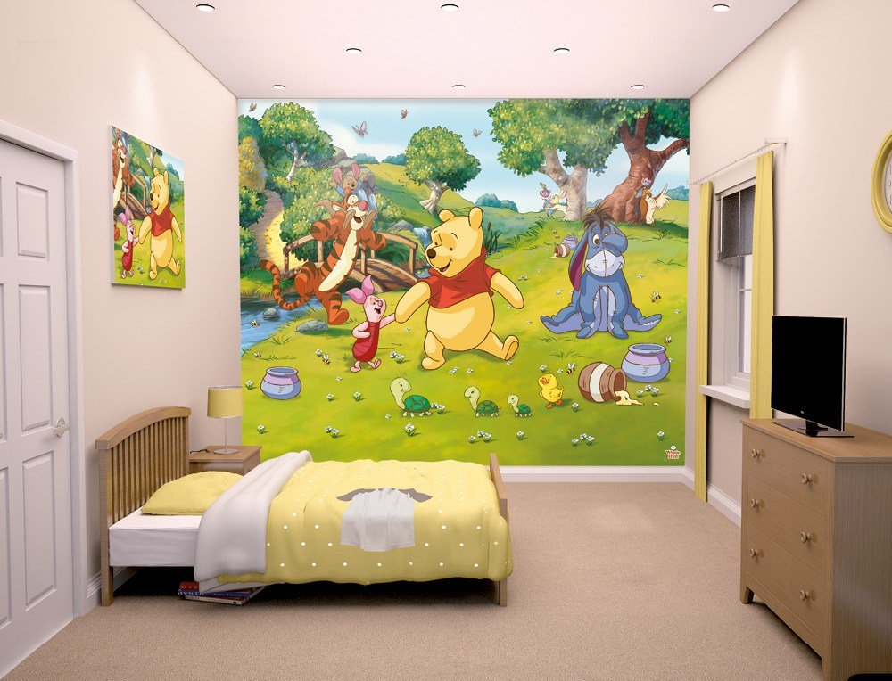 Best Disney Winnie The Pooh Bedroom Mural 10Ft X 8Ft Walltastic With Pictures