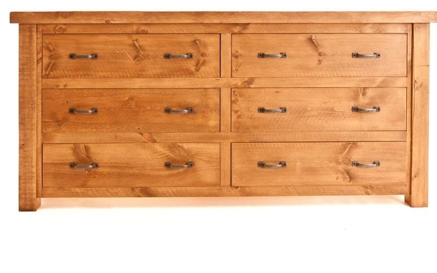 Best Ramsbury Pine 6 Drawer Low Wide Chest Chests Of Drawers Bedroom With Pictures
