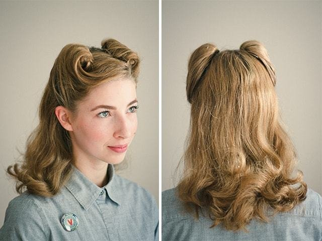 Free 25 Vintage Victory Rolls From 1940 S Any Woman Can Copy Wallpaper