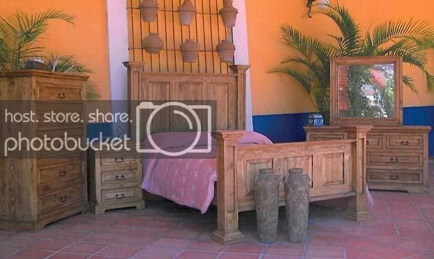 Best Rustic Oasis Bedroom Set King Queen Full Western Real Wood With Pictures