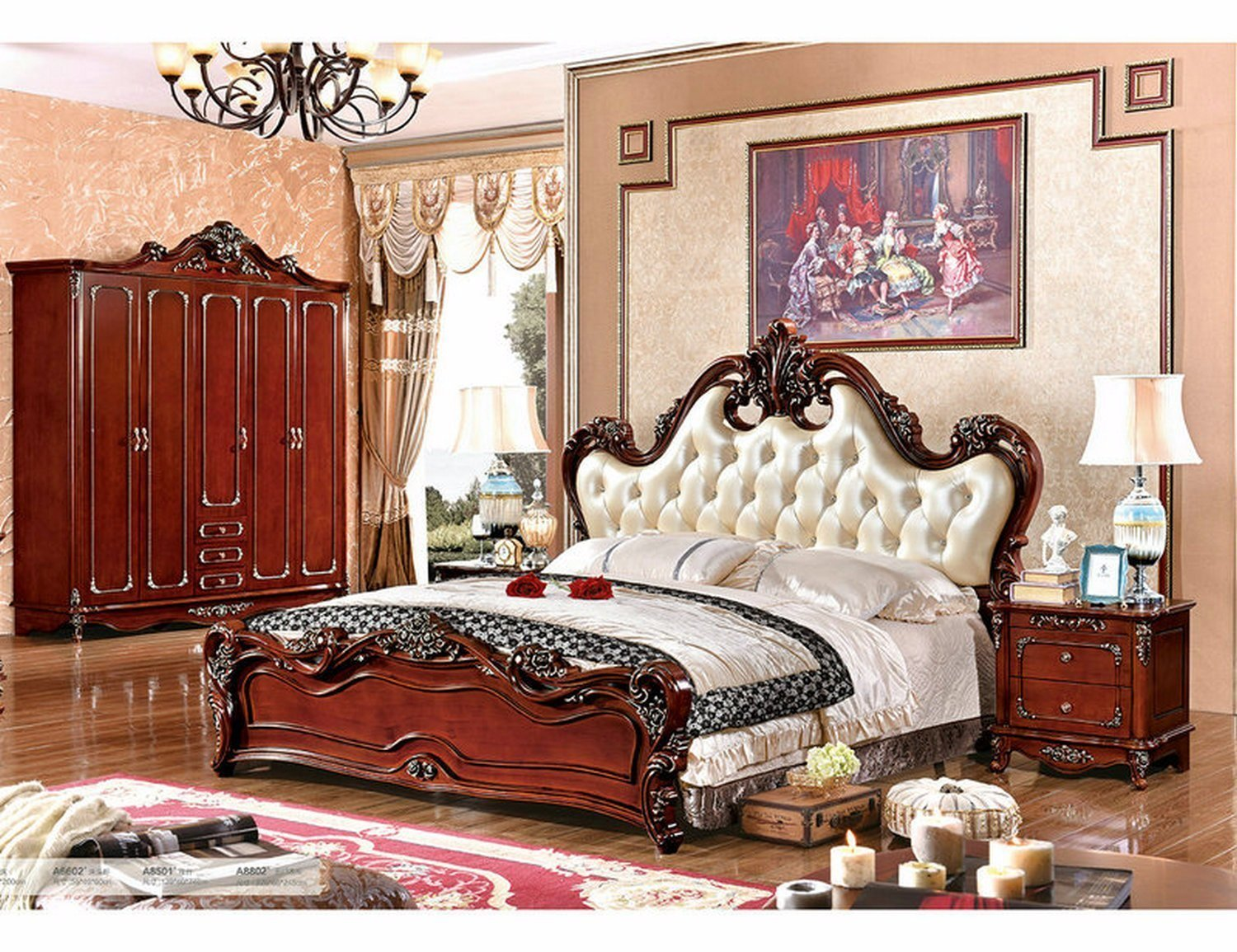 Best China Factory Luxury French Style Bedroom Furniture Set With Pictures