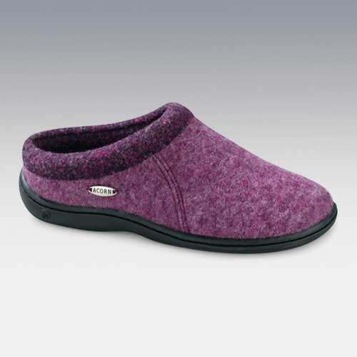 Best Acorn Womens Digby Scuff Slippers In Plum Heather Womens With Pictures