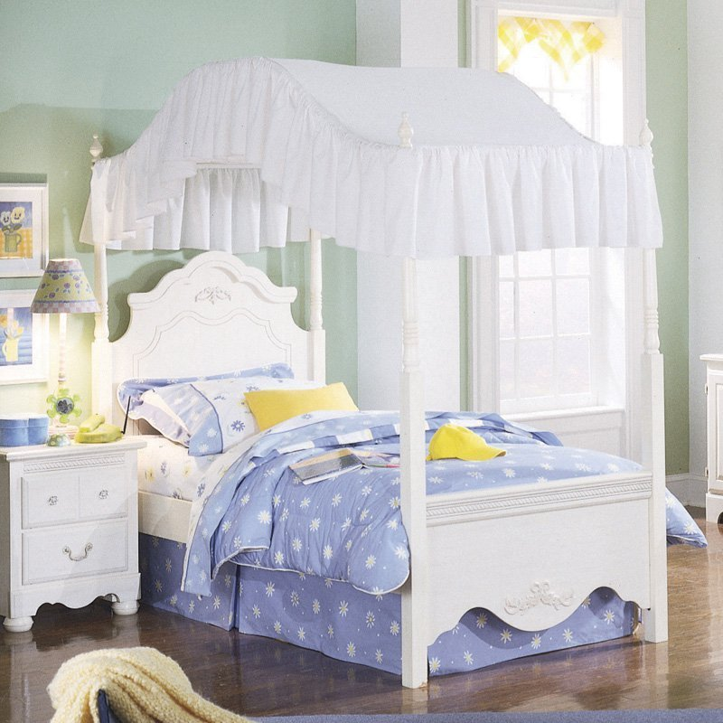Best Standard Furniture Diana Canopy Bed White Kids Canopy Beds At Hayneedle With Pictures