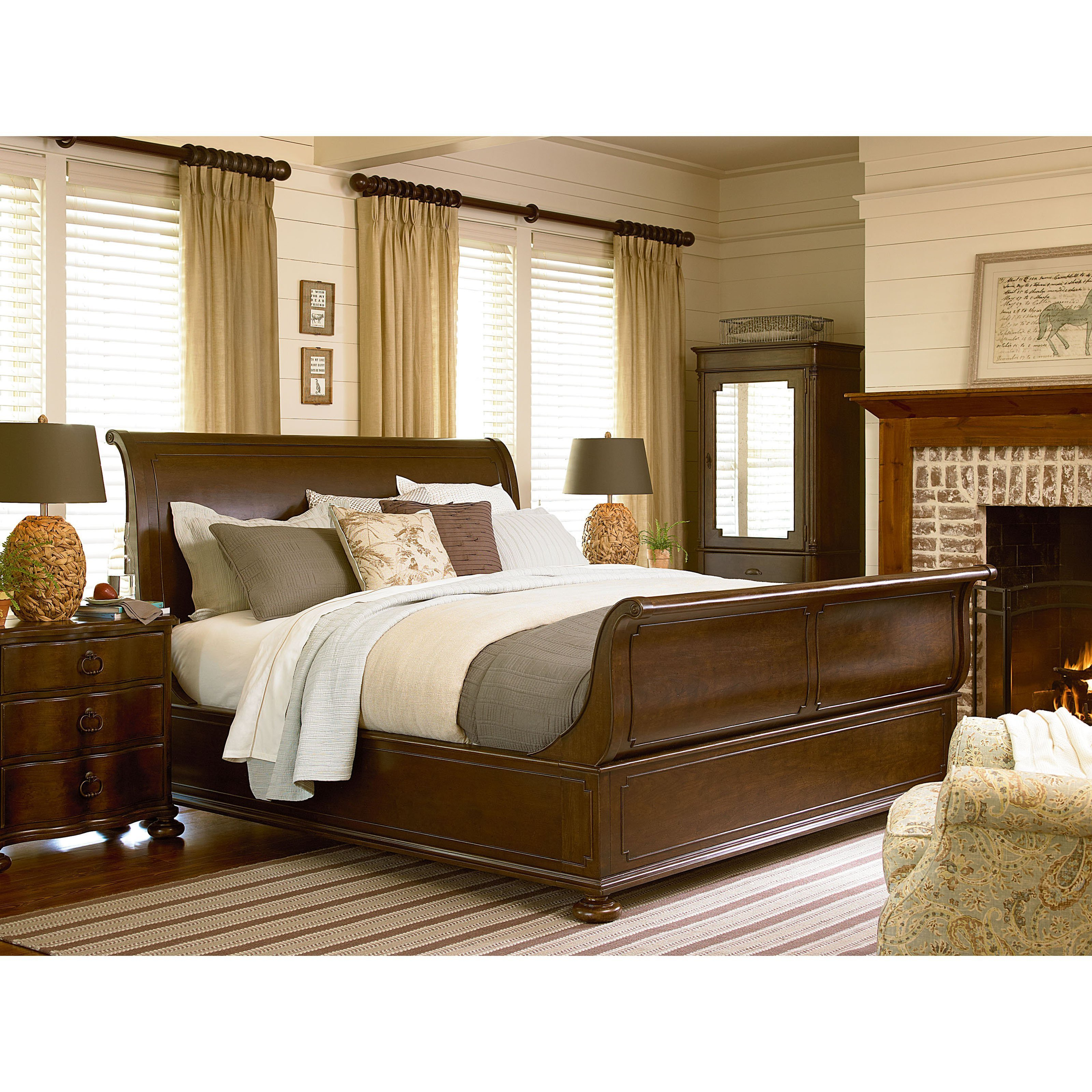 Best Paula Deen River House Sleigh Bed Beds At Hayneedle With Pictures