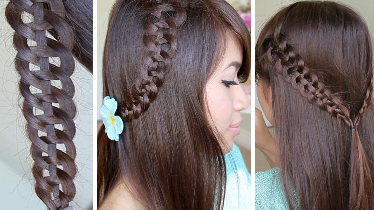 Free 4 Strand Slide Up Braid Hairstyle Hair Tutorial Youtube Wallpaper
