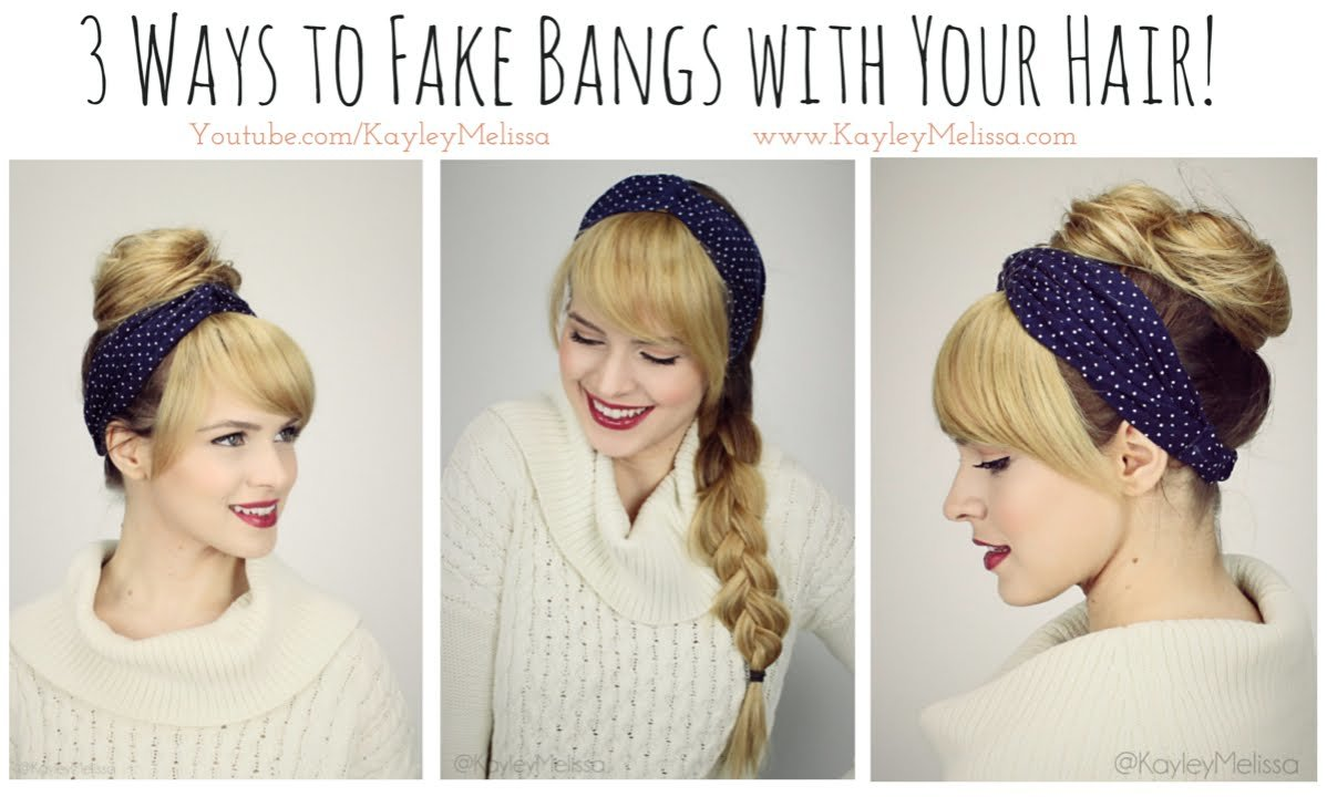 Free 3 Ways To Fake Bangs With Your Hair Youtube Wallpaper