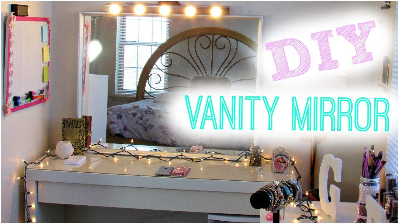 Best Diy Hollywood Vanity Light Mirror Diy Room Decor ♥ Easy With Pictures