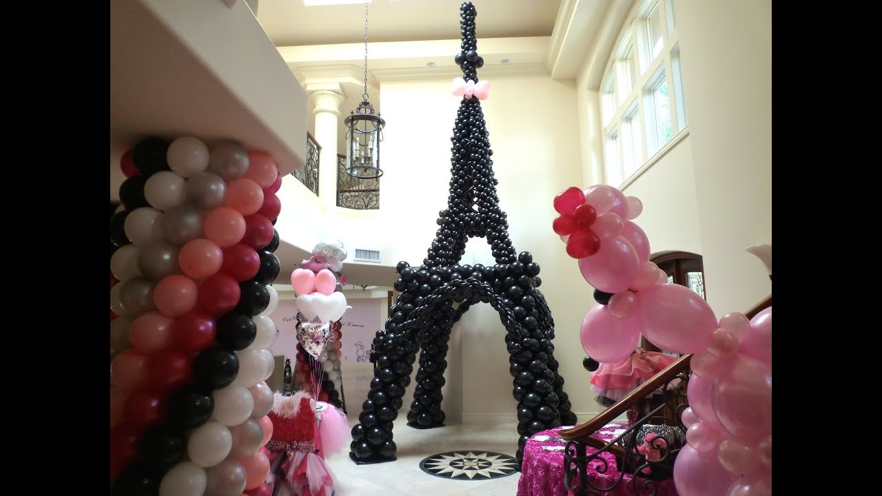 Best Pink Poodle In Paris Theme Birthday Decoration Dreamark With Pictures