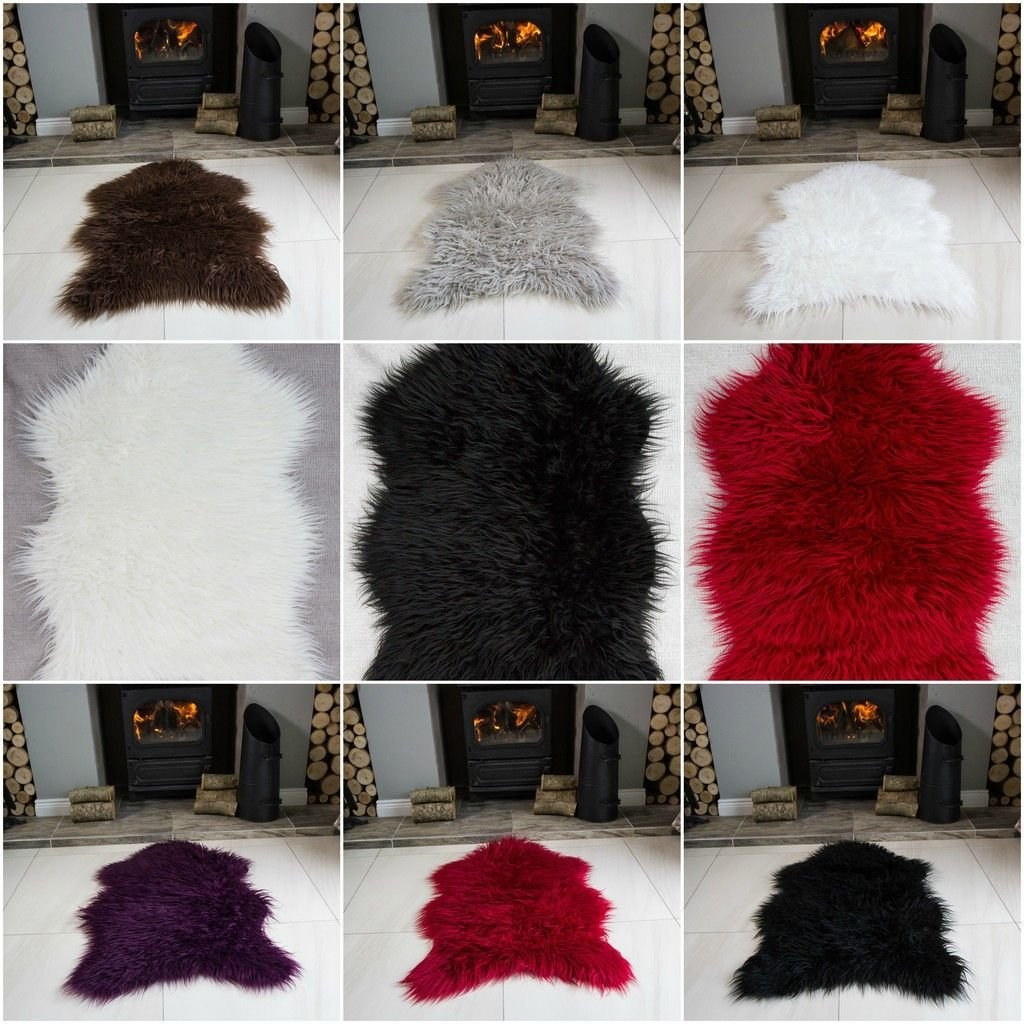 Best Shaggy Fluffy Sheepskin Rug For Living Room Bedroom House With Pictures