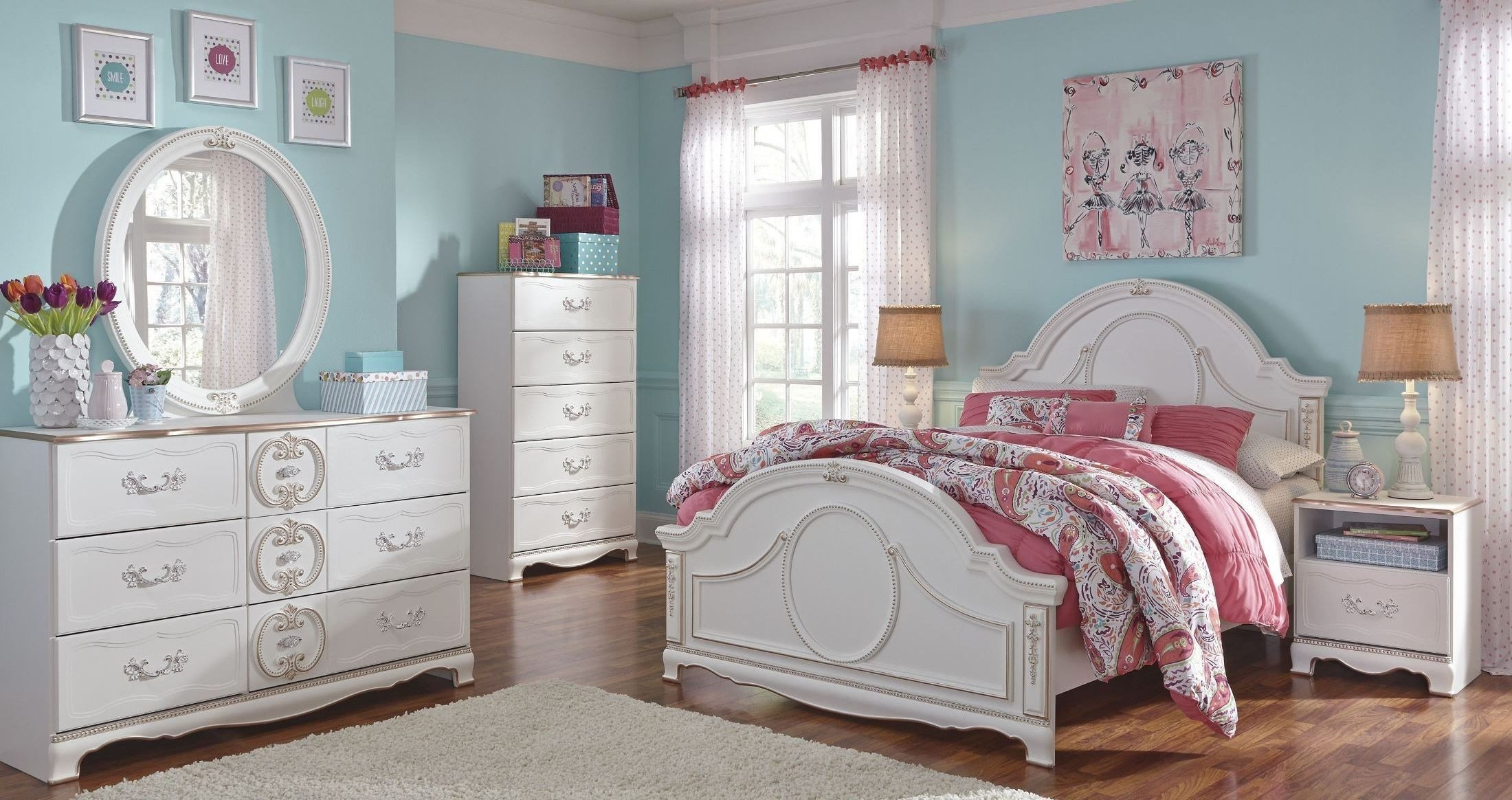 Best Korabella White Youth Panel Bedroom Set From Ashley B355 With Pictures