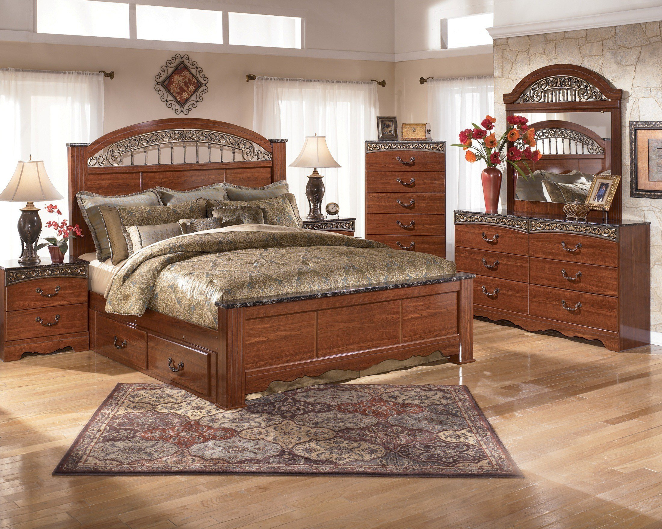 Best Fairbrooks Estate Poster Bedroom Set From Ashley B105 67 With Pictures