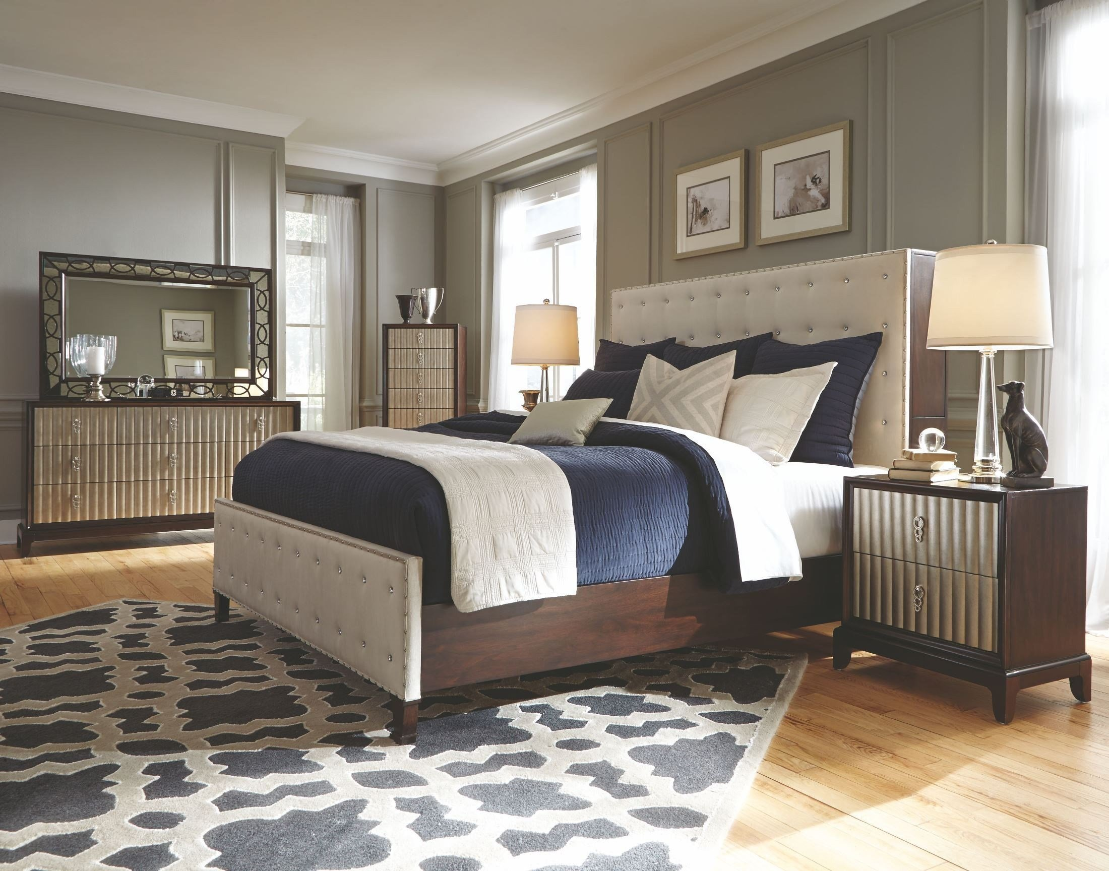 Best Gramercy Sable Panel Upholstered Bedroom Set B3564 54H 54F 54R Magnussen Home With Pictures