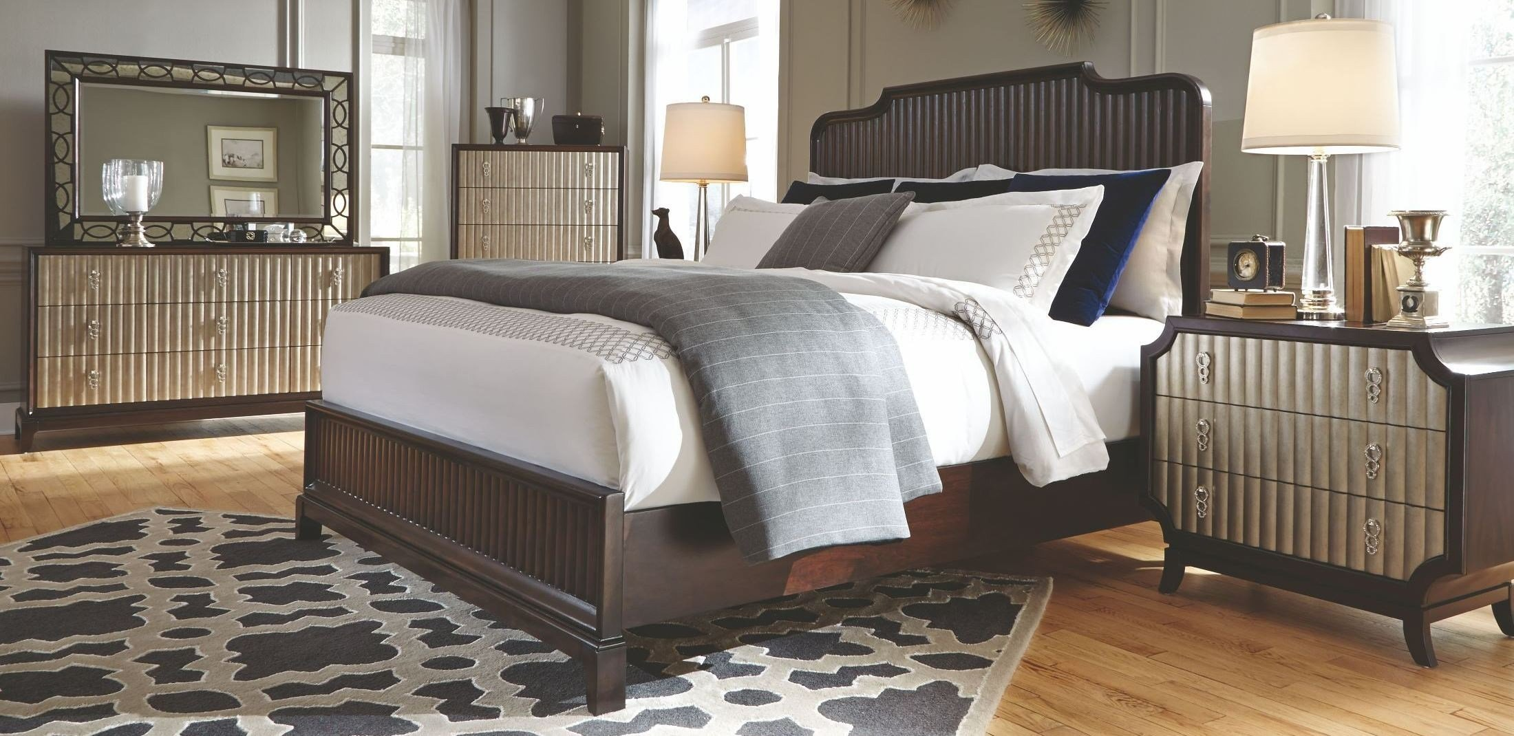 Best Gramercy Sable Panel Bedroom Set From Magnussen Home With Pictures