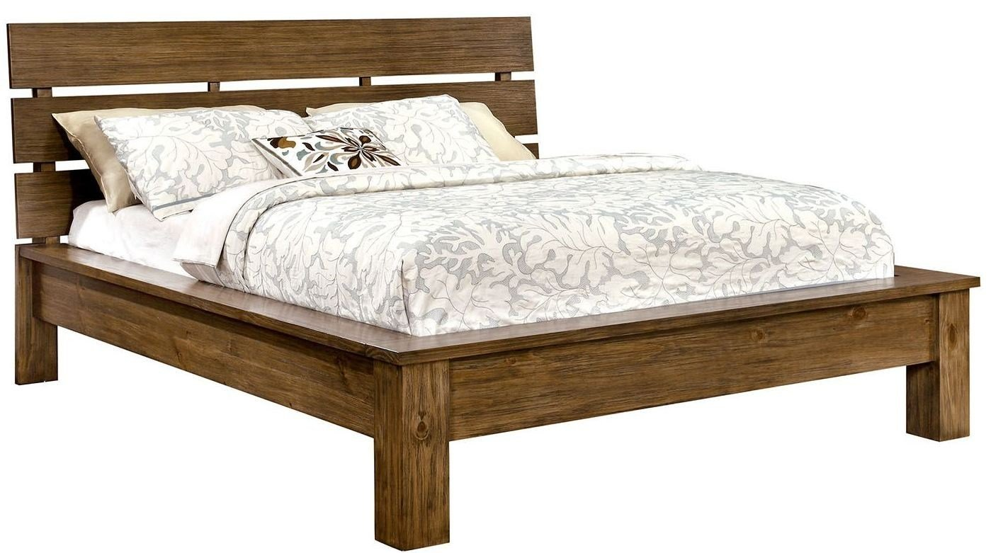 Best Roraima Reclaimed Pine Wood Bedroom Set Cm7251Q Furniture Of America With Pictures