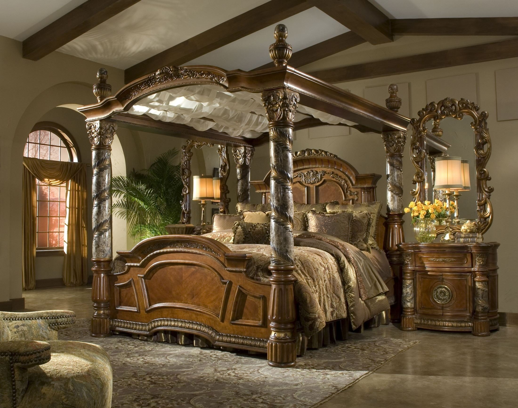 Best Villa Valencia Grande Marble Bedroom Set By Aico Furniture With Pictures