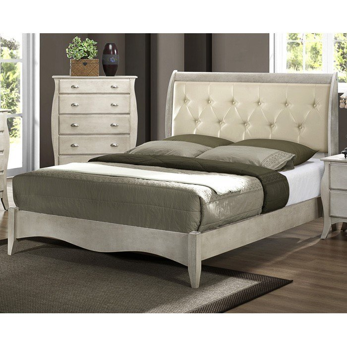 Best Astoria Wood Bedroom Set In Off White Finish Dcg Stores With Pictures