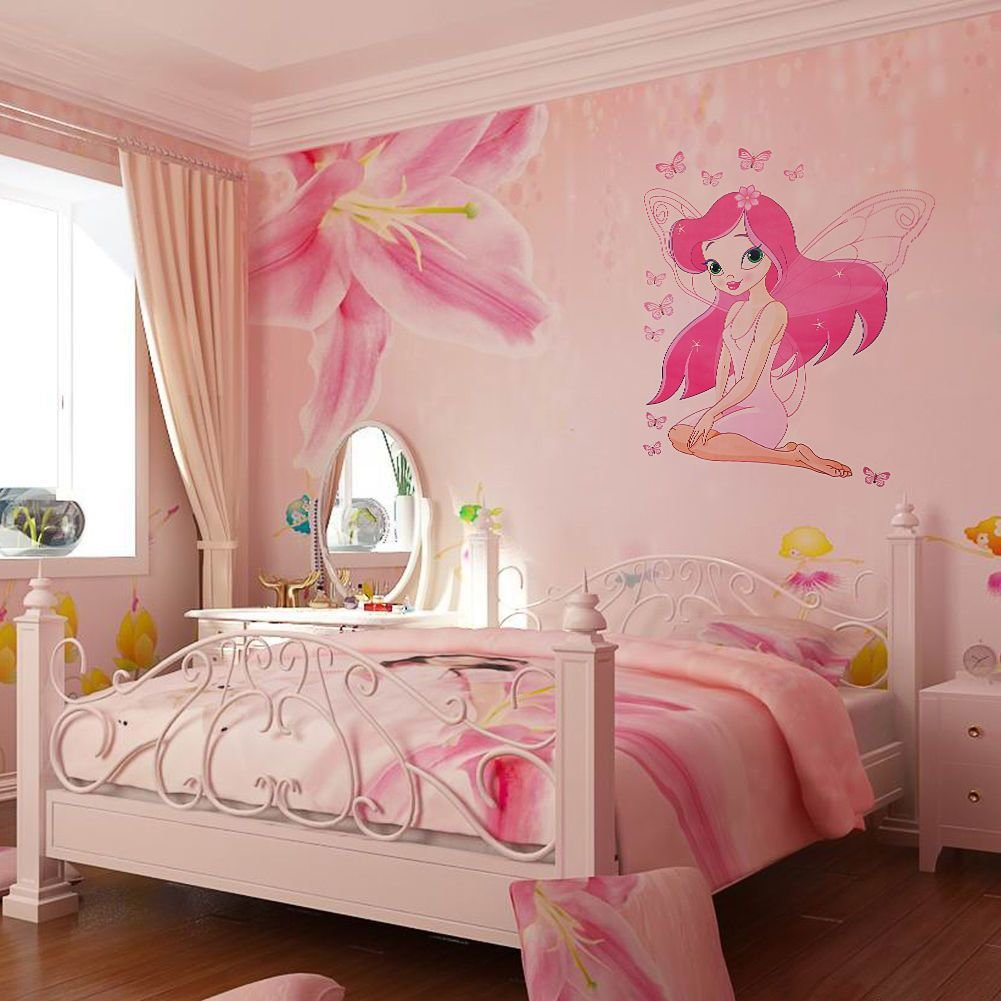 Best Kids Room Fairy Princess Butterly Decals Vinyl Art Mural With Pictures