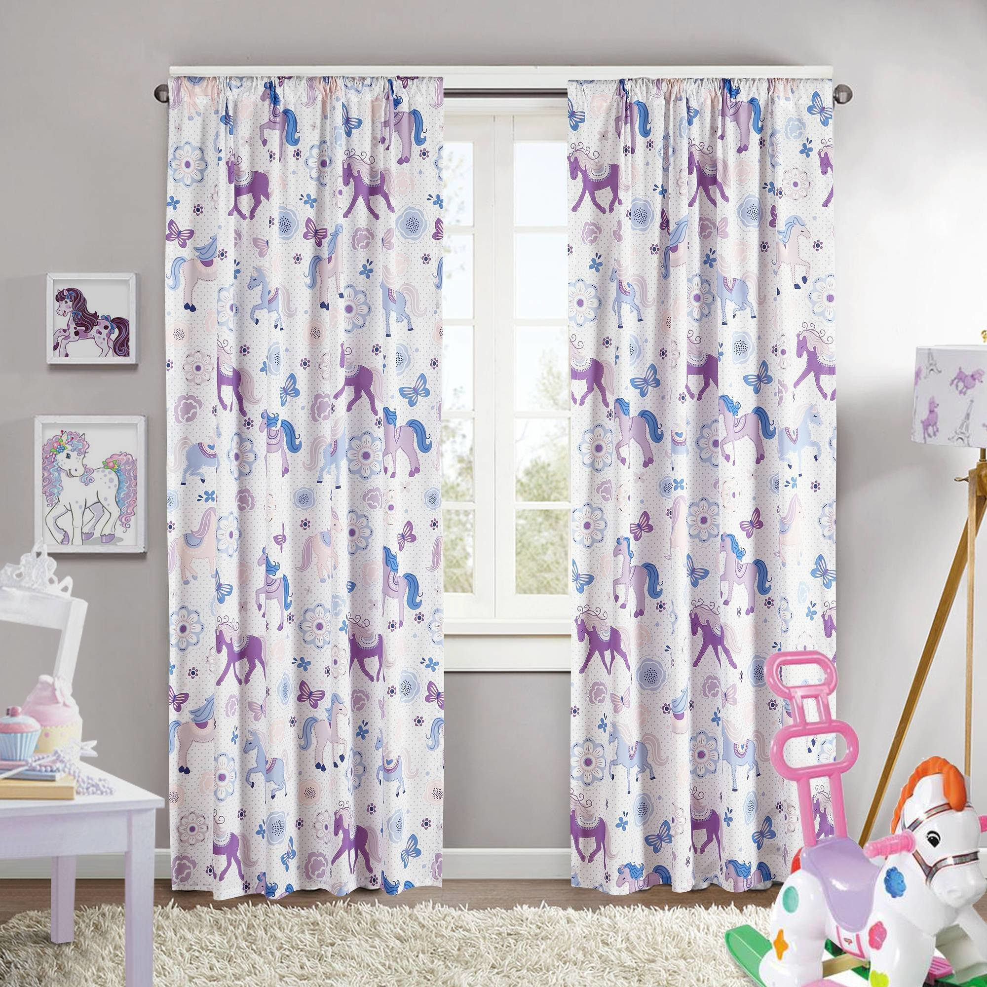 Best Kids Room Beautiful Flower Print Curtain Ideas For Kids Room Spring Flower Tree Flourishing With Pictures
