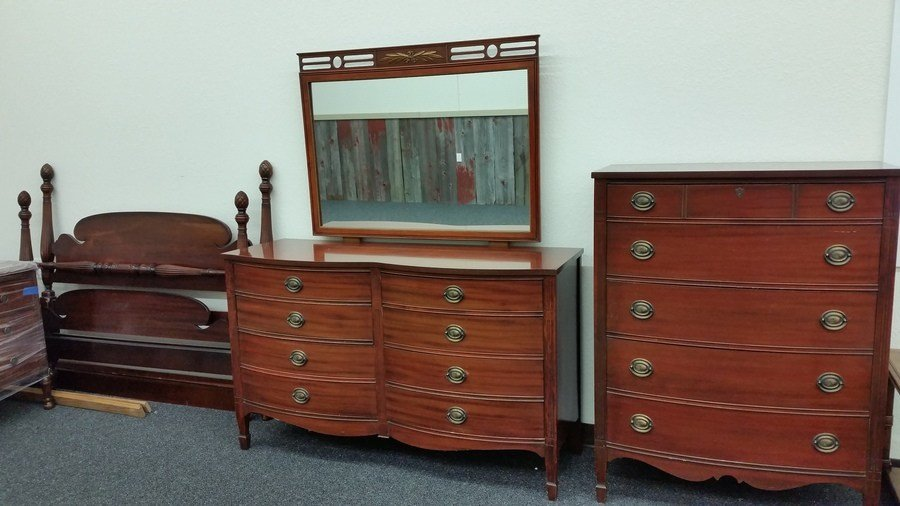 Best Antique Mahogany Dixie Furniture Bedroom Set My Antique Furniture Collection With Pictures
