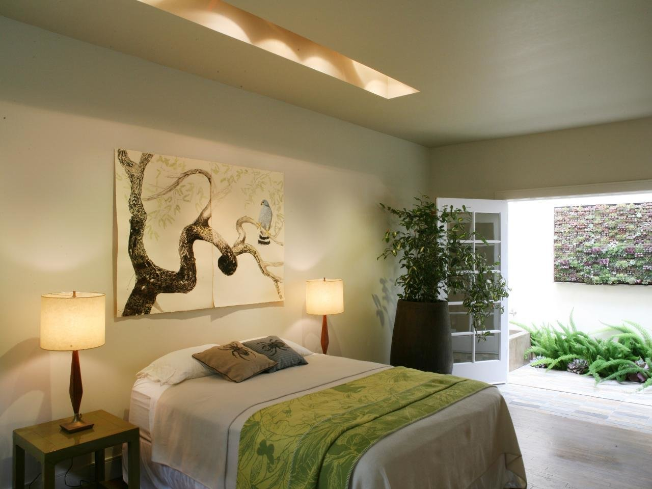 Best Contemporary Bedroom With French Doors And Garden View Hgtv With Pictures