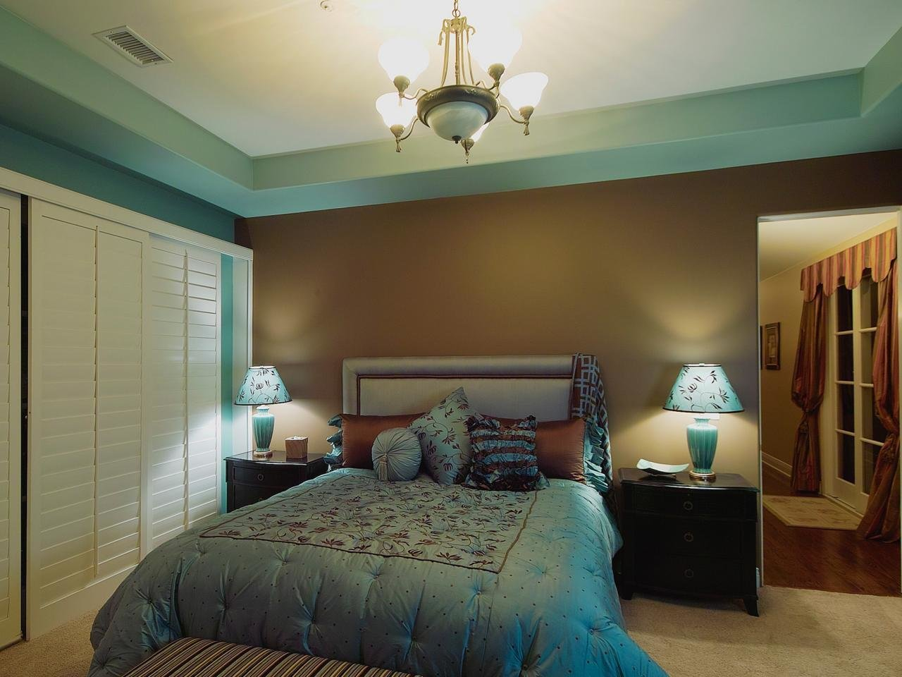 Best Transitional Bedroom Has Classic Blue And Brown Color With Pictures