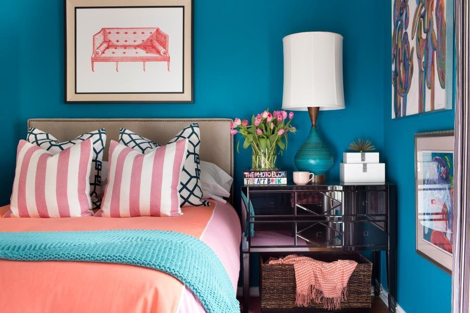 Best A Small Bedroom Packed With Cool Caribbean Colors Hgtv With Pictures