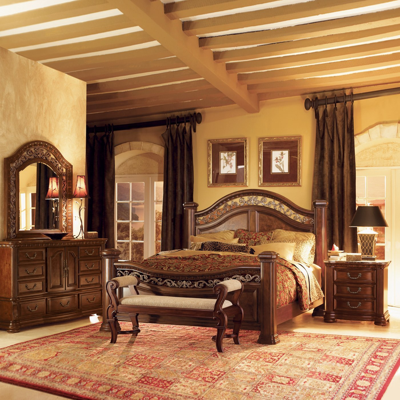 Best Wynwood Granada Mansion Bedroom Set Atg Stores With Pictures